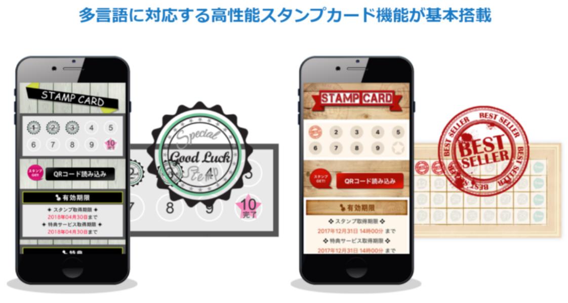 アプリのクーポン・来店ポイント・スタンプ機能