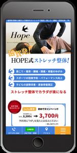 滋賀県 守山市 整体院のホームページ制作スマホイメージ