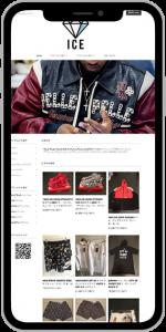 ファッション 通販ネットショップ制作例スマホイメージ