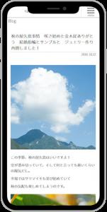屋久島 ジュエリー・アクセサリー店のブログサイト制作例スマホイメージ