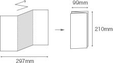 パンフレットA4三つ折りデザインイメージ