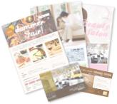 名刺・チラシ・ポスターなど紙媒体の印刷物デザインイメージ