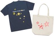 Tシャツやバッグなどのノベルティグッズデザインイメージ