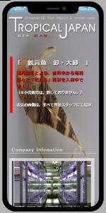 滋賀 栗東 熱帯魚販売のネットショップ・ホームページ制作スマホイメージ